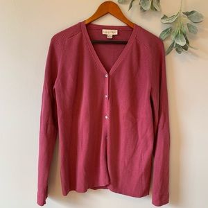 ⭐️ Casual Corner Pink Buttoned Cardigan